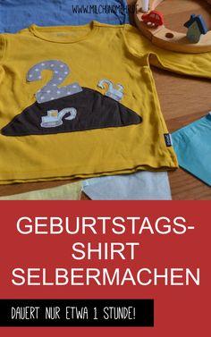 Geburtstagsshirt Selbermachen - DIY Anleitung | Milch & Mehr Baby, Sweatshirts, Sweaters, Fashion, Old Shirts, Fabric Remnants, Milk, Homemade, Tops