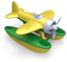 Green Toys Seaplane, Yellow   -  Click image twice for more info - See a larger selection of  Baby Bath toys at  http://zbabybaby.com/category/baby-categories/baby-and-toddler-toys/baby-bath-toys/ - gift ideas, baby , baby shower gift ideas « zBabyBaby.com