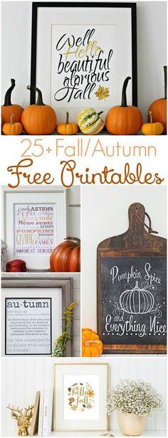 25+ fall free printables   http://lollyjane.com
