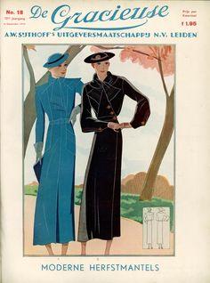 September 1934 Fashion Plates, Fashion Magazines, Fashion Pics, High Fashion, 1900s Fashion, Vintage Fashion, Vintage Style Outfits, Vintage Dresses, Vintage Girls