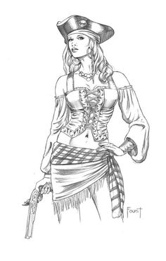 Superbe femme pirate By Foust