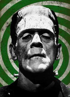 Frankenstein Classic Monster Series 8x10 Fine by andrealarayneetzel, $25.00 #Halloween #Frankenstein