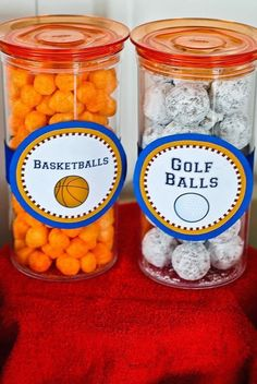 FREE Sports Ball Labels / Tags for an allstar event - sports theme first birthday party! Decorate your food and snack table with these FREE printables on Melly Moments Blog! sports party food