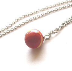 Marble vintage glass 1950s  1960s necklace by Bunnys on Etsy, $17.00