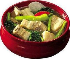 "sinigang na baboy ""Pork in sour soup with local veggies"""
