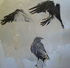 Three Crows Matted 8x8 Archival Print  Signed by SamanthaFrench, $45.00: