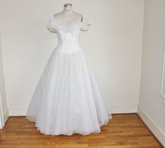 Vintage 80's White Mike Bennet Wedding Prom by perniejaynevintage, $198.00