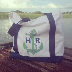 Anchor Monogrammed Tote Bag from Haymarket Designs