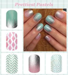 Iced, Rose-Colored Glasses, Mint Chevron, Fade In, So Fresh Pictured On: Fade In & Iced.  Browse and order at http://meganenstad.jamberrynails.net/