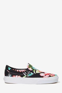 Vans Classic Slip-On Sneaker - Black Hawaiian Floral