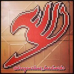 Fairy Tail perler beads by dragonstone_beadworks