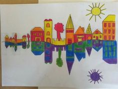 Fun and lovely #artproject for kids to show reflection.  Maria McDonald