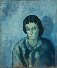 Pablo Picasso, 1902, Woman with Bangs, 61.3 x 51.4 cm, The Baltimore Museum of Art, Maryland - Picasso's Blue Period - Wikipedia, the free encyclopedia