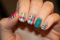 rebecca likes nails: glad in plaid!