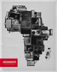 "(RED)Nights - Proposed (RED)Nights concert series poster 22"" x 28"" / 24"" x 36"" 3-color on 80lb French Pale Gray"