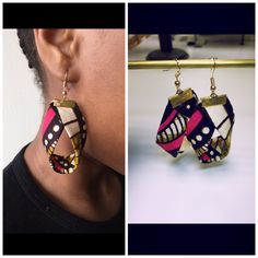 boucle d'oreille tissus #boucleafrica