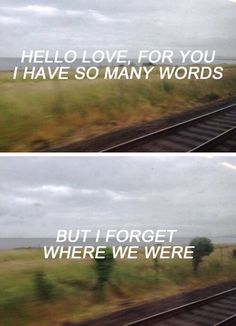 ben howard - forget where we were