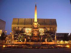 Augustusplatz, Brunnen und Gewandthaus, Leipzig