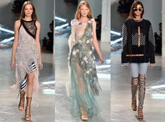 Rodarte from Best Shows of New York Fashion Week Spring 2015  Between all the mixed mediums, those pierced eyelids and a set made of 308 pounds of Swarovski crystal, there was plenty to take in at Rodarte!