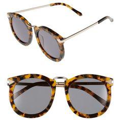 Women's Karen Walker 'Super Lunar - Arrowed By Karen' 52Mm Sunglasses ($300) ❤ liked on Polyvore featuring accessories, eyewear, sunglasses, 80s sunglasses, military sunglasses, karen walker glasses, 80s glasses and karen walker