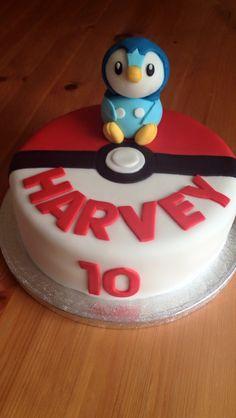 Piplup Pokemon cake