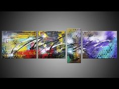 ► Abstract Art Action Painting HD Video HOW TO - Alyssum by John Beckley - YouTube.. So Great..You have to Watch