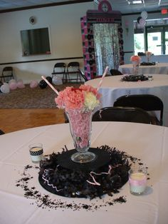50th Anniversary Decorations | 50th Anniversary Sock Hop Centerpieces | Decorating Ideas for cakes ...
