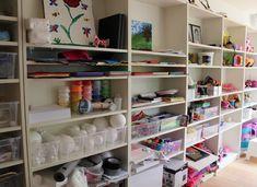 Tina dalboge is Denmarks Martha Stewart. heres her craft space  julefrokoster eller klare sække og system i skuffer og skabe?