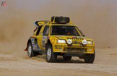 """Peugeot 205 T16 Grand Raid Rally """"Paris- Dakar 1987"""". Voor gebruikte onderdelen van de #Peugeot205 kijk eens hier: https://bartebben.nl/onderdelen/peugeot/205.html #TweedehandsOnderdelen #PeugeotAutoonderdelen"""