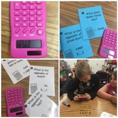 Calculator Word Fun ~This is a good way to apply NCTM standards to a lesson plan. It guides students in how to use a calculator, while learning simple addition/subtraction problems and paying attention to numbers and instructions. Escape Room Diy, Escape Box, Word Riddles, Breakout Boxes, Calculator Words, Escape Room Puzzles, Math Games, Maths, Math Task Cards