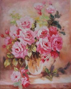 Flower Vase Oil Painting in D&C Art Gallery, Hanoi, Vietnam 80 x 100 cm Flower Vases, Flowers, Hanoi Vietnam, Art Gallery, Oil, Artwork, Handmade, Painting, Art Museum