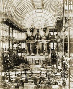 Image 11 of 14 from gallery of AD Classics: The Crystal Palace / Joseph Paxton. The Crystal Palace at Sydenham Hill, Photo by Philip Henry Delamotte © Wikimedia Commons London History, British History, Crystal Palace, Palace London, Victorian London, Vintage London, Egyptian Pharaohs, Expositions, World's Fair
