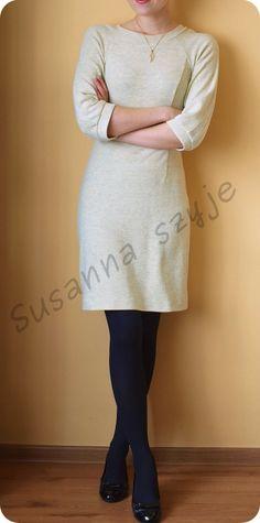 Susanna szyje: Uszyj sobie dzianinową sukienkę od Papavero - step by step