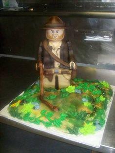 Indiana Jones Lego Cake