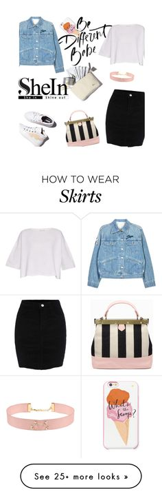 """Black Skirt with SheIn!"" by milkandabsinth on Polyvore featuring Kate Spade, Laurence Dacade, Helmut Lang, Étoile Isabel Marant and Johnny Loves Rosie"