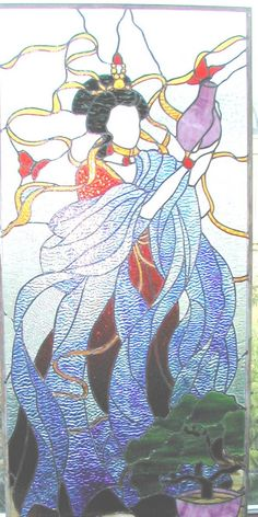 1000 images about stained glass oriental on pinterest for Armoire style japonais