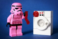 Sometimes even Stormtroopers miss that pesky red sock hiding in with the whites :)