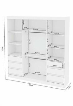 Ideas for master bedroom closet designs layout shelves - Modern Master Closet Layout, Bedroom Closet Doors, Bedroom Closet Storage, Bedroom Closet Design, Closet Designs, Ikea Wardrobe, Bedroom Wardrobe, Ikea Closet Organizer, Closet Organization