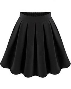 Black Flare Pleated Skirt pictures