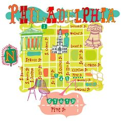 Who doesn't love a cute #Philly map?!
