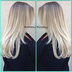 balayage platinum blonde - Google zoeken
