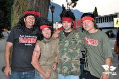 Mega Rambo fans at Rambo First Blood 30th anniversary celebration in Hope, BC. October 5-8, 2012. www.hopebc.ca