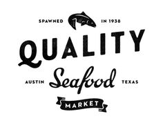 Typography  Quality Seafood logo by Simon Walker