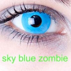 Sky blue zombie  halloween contact lenses