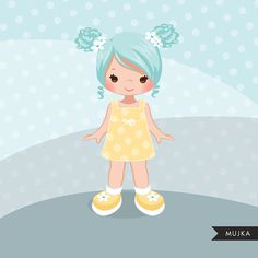 10 little girl graphics with many hair and skin color versions Perfect for invitations, planner stickers, party printables, and embroidery.  Contains 10 high-quality Cliparts Format: 300 DPI transparent PNG files Size: Most cliparts are saved around 6,7 inches tall  LICENSE: Personal Use &