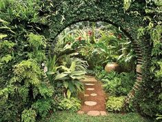 49 Awesome Garden Landscaping Ideas: is Gorgeous! - Incorporate unique designs into your tropical garden landscape to create a fun area for guests to w - Tropical Garden Design, Tropical Landscaping, Backyard Landscaping, Landscaping Ideas, Tropical Gardens, Dollhouse Landscaping, Patio Ideas, Unique Gardens, Amazing Gardens