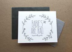 "Tippi blog - ""Babies are Rad"" printable card"