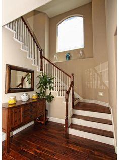 hardwood floors on the stairs