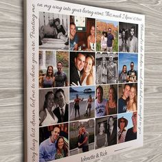 Graduation Poster Ideas Discover Personalized Photo Collage Canvas Engagement Gift Wedding Gift Anniversary Gift Gift for Couples Photos on Canvas Photo Collage Board, Collage Des Photos, Photo Collage Canvas, Photos On Canvas, Photo Collage Gift, Photo Collages, Collage Frames, Engagement Gifts, Engagement Photos