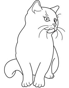 Printable 29 Realistic Cat Coloring Pages 4753